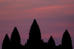 Angkor Wat Silhouette Stock Fotografie