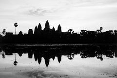 Angkor Wat silhouette at Siem Reap, Cambodia Stock Photography