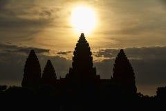 Angkor Wat soluppgång Arkivbild