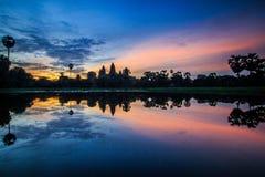 Angkor Wat soluppgång I Royaltyfri Foto