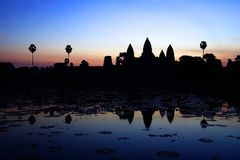 Angkor Wat Sonnenaufgang Stockfotos