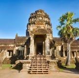 Angkor Wat am Sonnenuntergang Siem Reap kambodscha lizenzfreie stockfotos