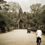Angkor Wat south door Stock Image
