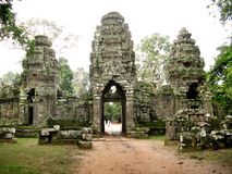 Angkor Wat south door Stock Images