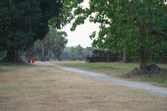 Angkor Wat South Gallery in Siem oogst, Kambodja stock foto