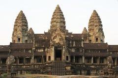 Angkor Wat South Gallery in Siem oogst, Kambodja stock foto's