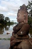 Angkor Wat Statue. Statue at the temple of Angkor Wat in Cambodia Royalty Free Stock Image