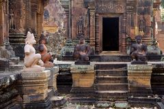 Angkor Wat Statues Royalty Free Stock Photos