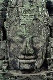 Angkor Wat Stone Face Fotos de Stock Royalty Free
