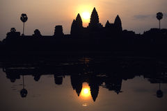 Angkor Wat Sunrise Stock Photography