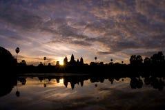 Angkor Wat sunrise. Tranquility of Angkor Wat, Siem Reap, Cambodia at sunrise Stock Photo