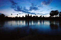 Angkor Wat sunrise. The sunrise of the angkor wat Stock Photo