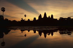 Angkor Wat at  sunrise Stock Photos