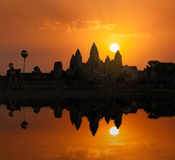 Angkor Wat on sunrise Royalty Free Stock Photos