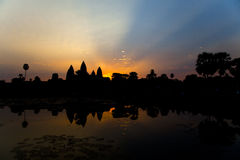 Angkor Wat Sunrise. Sunrise over Angkor Wat temple in Siem Reap, Cambodia Royalty Free Stock Photo