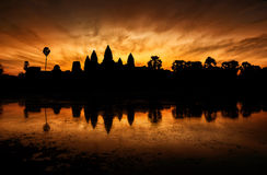 Angkor Wat Sunrise, Siem oogst, Kambodja Stock Foto's