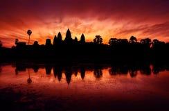 Angkor Wat Sunrise, Siem oogst, Kambodja Stock Afbeelding
