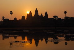 Angkor Wat sunrise at Siem Reap Royalty Free Stock Images