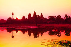 Angkor Wat sunrise at Siem Reap. Stock Photos