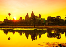 Angkor Wat sunrise at Siem Reap. Cambodia. Asia Royalty Free Stock Photos