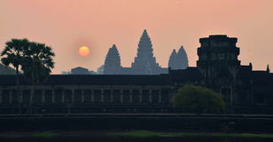Angkor Wat Sunrise Royalty Free Stock Photography