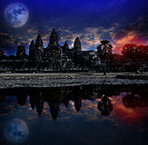 Angkor wat sunrise, Siem reap,Cambodia, was inscribed on the UNESCO World Heritage List in 1992. Elements of this image furnished Stock Photos
