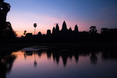 Angkor Wat at sunrise Royalty Free Stock Photos