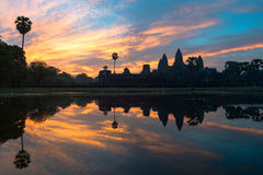 Angkor Wat at sunrise Royalty Free Stock Images
