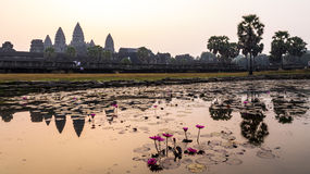 Angkor wat in sunrise /  sunset, Siem Reap, camodia Royalty Free Stock Image