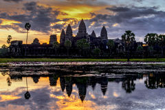 Angkor Wat. During sunrise time stock photos