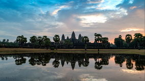 Angkor Wat temple stock footage
