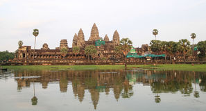 Angkor Wat in sunset Royalty Free Stock Photo