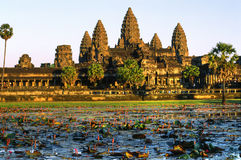 Angkor Wat at sunset, cambodia. Royalty Free Stock Image