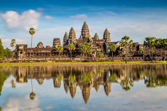 Angkor Wat tempel Royaltyfria Foton