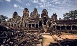 Angkor Wat tempel Arkivbild