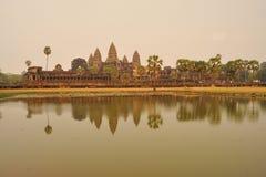 Angkor Wat tempel Arkivfoton