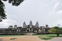 Angkor Wat tempel Royaltyfria Bilder