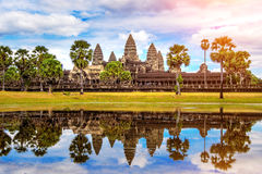 Angkor Wat tempel Arkivfoto