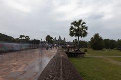 Angkor Wat Tempel-Eingang lizenzfreies stockbild