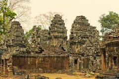 Angkor Wat Tempel En khmercivilisation för den cambodia för angkoren skördar banteay lotuses laken siemsreytempelet Turism i Camb Royaltyfri Foto
