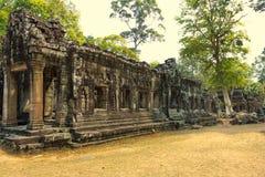 Angkor Wat Tempel En khmercivilisation för den cambodia för angkoren skördar banteay lotuses laken siemsreytempelet Turism i Camb Royaltyfria Bilder