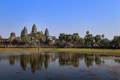Angkor Wat tempel, Siem Reap, Cambodja Arkivfoton