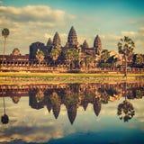 Angkor Wat Tempel am Sonnenuntergang Siem Reap kambodscha lizenzfreie stockbilder