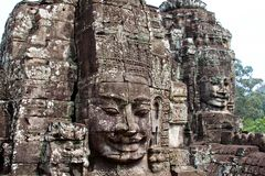 Angkor Wat tempelframsida arkivbilder