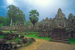 Angkor Wat (tempiale di Bayon) Fotografia Stock