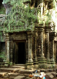 Angkor wat temple. Ancient temple in angkor wat cambodia royalty free stock images