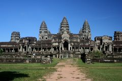 Angkor Wat Temple. Temple at Angkor Wat near the city of Siem Reap in Cambodia Royalty Free Stock Images