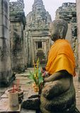 angkor wat temple buddha cambodia Royalty Free Stock Photos