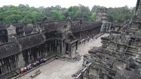 Angkor Wat temple in Cambodia stock video footage