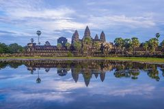 Angkor Wat Temple in Cambodia. SIEM REAP , CAMBODIA - OCT 17 : The Angkor Wat Temple in Siem Reap Cambodia on October 17 2017 , The Angkor Wat is an UNESCO World Stock Photography